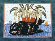 Pattern - The Hunter - 70cm x 50cm - Cat Wallhanging - Mary Gendreau - Applique