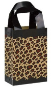 "Print Frosted Plastic Shopping Gift Bags(13cm x 7.6cm x 7"") - Quantity of 100"