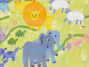 Noah's Ark Baby Girl or Boy Gift Wrap - 4.9m Roll