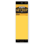 TISSUE PAPER DARK YELLOW 10 SHEETS #34024, CASE OF 144