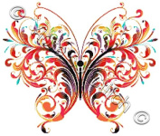 Watercolour Butterfly Counted Cross Stitch Kit