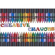 Creative Crayons Counted Cross Stitch Kit-30cm x 21cm 16 Count