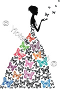 Butterfly Girl - Modern Abstract Counted Cross Stitch Kit