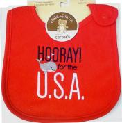 Patriotic Baby Bib-Hooray for the U.S.A