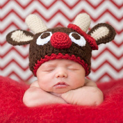 Pinbo Newbron Baby Photo Photography Prop Crochet Knitted Costume Cute Animal Deer Hat Caps