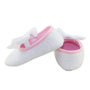 DZT1968(TM)Baby Girl Cute Princess Soft Bottom Cotton Shoes With Bowknot Ribbon