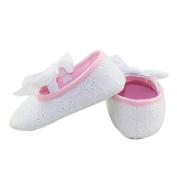 DZT1968(TM)Baby Girl Cute Princess Soft Bottom Cotton Shoes With Bowknot Ribbon