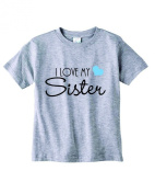 Baby Tee Time Boys' Crew Neck TEE I love my Sister funny Shirt