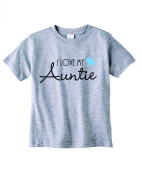 Baby Tee Time Boys' Crew Neck TEE I love my Auntie funny Shirt