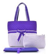 seer sucker purple nappy bag