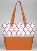 Hope Marrakesh Print Tote Bag, Orange and Pink