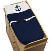 Baby Changing Pad Cover for Anchors Away Nautical Navy and White Collection