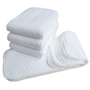 Binmer(TM) Newest. Convenient 5pcs Infant White Ecological Cotton Baby Cloth Nappy Washable Nappy