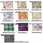 2 Pieces Mini Wet Bag Waterproof Reusable for Mama Cloth Menstrual Pads / Breast Pads - You Choose 2 Bags From 10 Designs and Send Message to Me