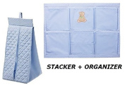 Ikea Nappy Stacker Nursery Organiser Baby Changing Nanig (2 Piece) Blue