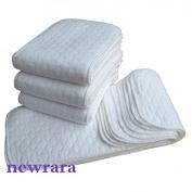 Newrara Baby 3 Layers of Cotton Nappy Inserts 10pcs