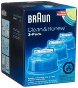 NEW Braun Series 3 5 7 CCR3 Shaver Clean & Renew Refills CONTAINS 3-Pack Men