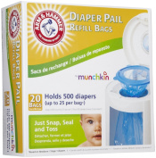 Munchkin Arm & Hammer Nappy Pail Refill Bags - 20 ct
