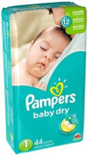Pampers Baby Dry Nappies Sesame Street Size 1 - 44 CT