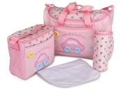 TTBOO Baby Nappy Nappy Shoulder Mummy Tote Bag Nappy Bag Set With Changing Pad Pink