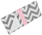Caught Ya Lookin' Baby Changing Pad, Grey/White/Pink