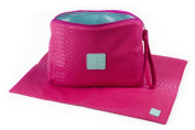 Posh Play Nappy Clutch & Changing Pad Combo - Hot Pink