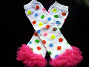 Miracle of Life Colourful Dot with Chiffon Ruffles Baby Sweet Leggings/leggies/leg Warmers for Little Girl