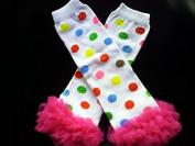 Miracle of Life Colourful Dot with Chiffon Ruffles Baby Sweet Leggings/leggies/leg Warmers for Little Girl