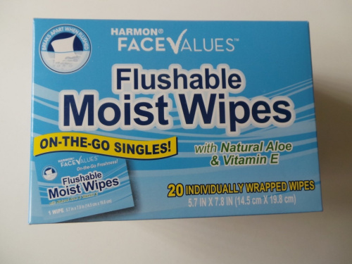 Individually wrapped flushable wipes