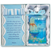 Blue Baptism Water Bottle Blue Bow and Box