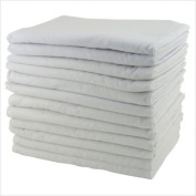 Early Childhood Resources ELR-0213 12-Pack Kiddie Cot Blankets - White- Set of 12