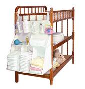 BonAchat 63 * 48 * 25 CM Waterproof Oxford 9 Pocket Baby Bed Hanging Bag Bedside Pocket Storage Nursery Nappy Stacker Hanging Bag Crib Hanging Organiser