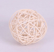 CheckMineOut 50Pcs 3cm Wood Twig Rattan Wicker Ball Wedding Decorations Home Garden Hanging Decor