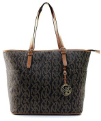 Signature Collection Nx Fashion Shoulder Tote Handbag Travel Shopping Brown