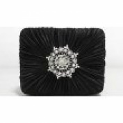 Style & Co. Handbag, Molly Satin Evening Bag, Black