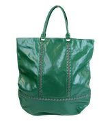 Bottega Veneta Unisex Green Leather Tote Bag 296558