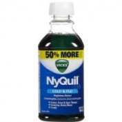 Vicks 44 Nyquil Cold and Flu Relief Liquid, Original Flavour, 350ml
