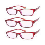 3 Pairs Southern Seas Lightweight Flexi Wine Red Frame Mens Womens +1.00 Reading Glasses Spectacles