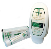 Skin Lightening Made to Fade DUO, Scrub Soap + GEL By Laboratory Hp25 Lightens the Skin Without Damaging It.