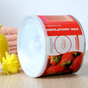 Depilatory Wax Can 410ml Strawberry Heater Waxing Hair Removal Remove Salon Spa