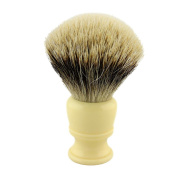 26mm Knot Begie Resin Handle Finest Badger Hair Shaving Brush