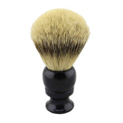 24mm Knot Resin Black Handle Silvertip Badger Hair Shaving Brush