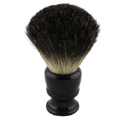 Black Resin Handle Black Badger Hair Shaving Brush 26mm Knot