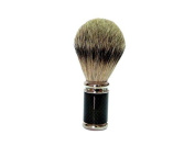 GOLDDACHS Shaving Brush, 100% Badger hair, Metal, silver, black