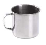 EUBUY New Arrival Large Handled Stainless Steel Cups Shinning Shaving Soap Mug Bowls for Men