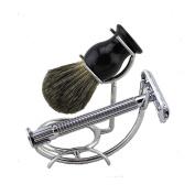 Pure Badger Hair Bursh and Safety Razor Shaving Set