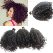 "Wholesale. 5a Unprocessed Virgin Mongolian Afro Kinky Curly Hair Extensions for Black Women Mixed Length 14""16""18""/ 300g"