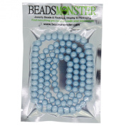 Colour Glass Pearl Pearlescent Beads 8mm Round 1mm Hole, 100pcs, Jewellery Making