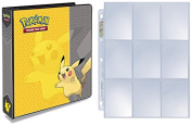 Pokemon Pikachu 3-Ring Binder with 25 Platinum Ultra-Pro 9-Pocket Pages - Album holds up to 1800 Pokemon Cards