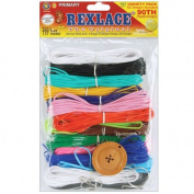 Pepperell Rexlace Cord 140m 2 Rings 6 lanyard Snaps EZ Gimper Beading line Kit